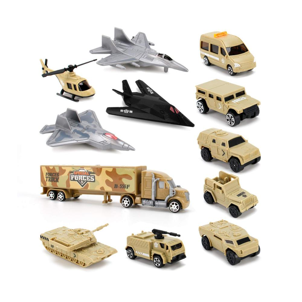 Special Forces Military Vehicles Scaled Army Toy Play set - Stealth Bomber, Tank, Helicopter, Jets and More!