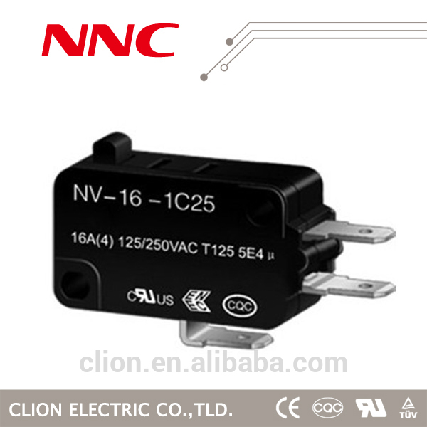 NNC NV-16Z-1C25 air pressure 5 pin 250v ac micro switch t105 5e4 deco 125v 16a electrical lever dpdt electronic micro switch