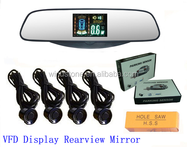 Super slim rear mirror parking sensor,VFD display rear miror--RD-VFD027C4