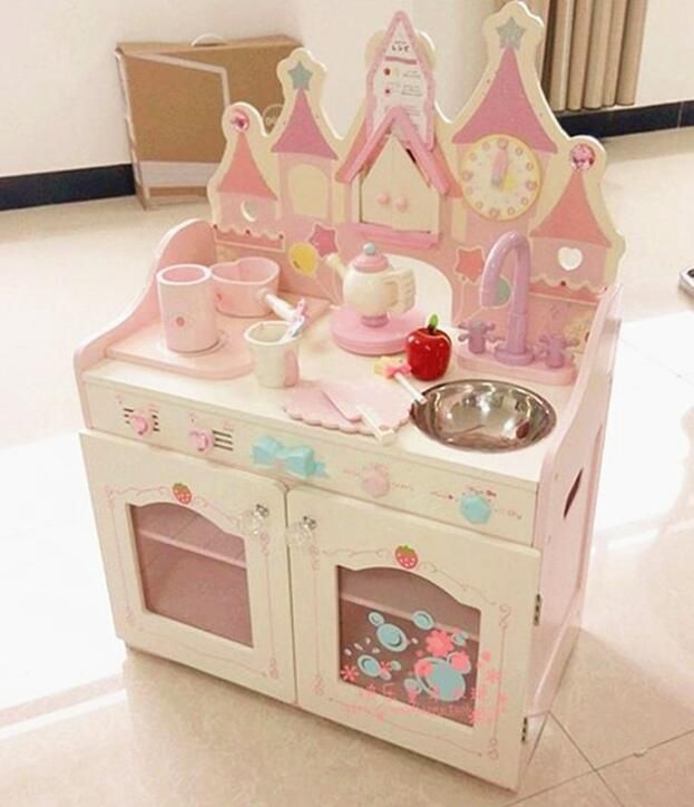 Wood furniture toy Kitchen Toys Set Type pretend play toys for kids KKT010