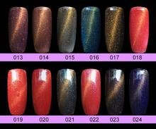 12pcs Diamond megnetic cat eye gel nail polish soak off uv color gel 6ml free shipping