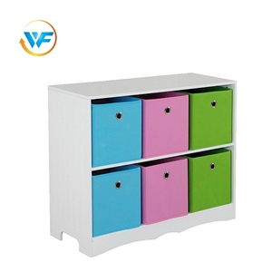 Fabric Box Simple Stylish Design 6 Furniture File Cabinet Wooden With Drawer