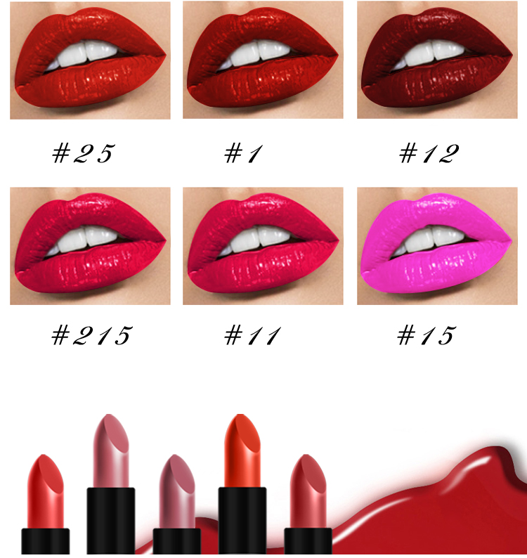 Cosmetic Manufacturers Organic Squalane Jojoba Oil Collagen Long-lasting Waterproof Matte Lipstick