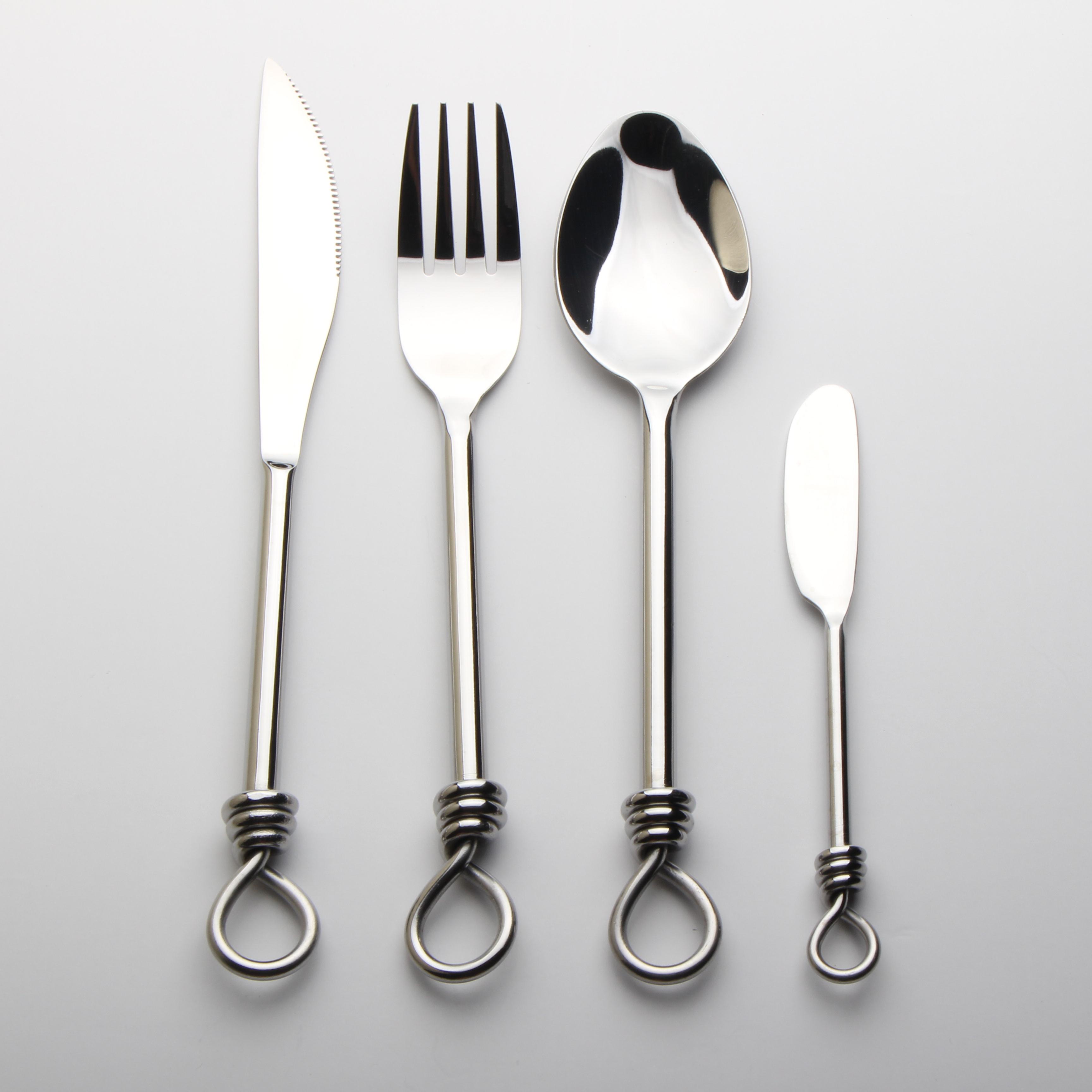 Bc3247 Fancy Twist Handle Cutlery Set 16pcs Set Stainless Steel Spiral Handle Flatware Sets Buy Twist Handle Cutlery Set Product On Alibaba Com