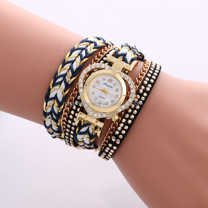 New Arrived Lady Watches Colorful Band Bracelet Watch Heart Shape Smart Dial Women Watch BWL267