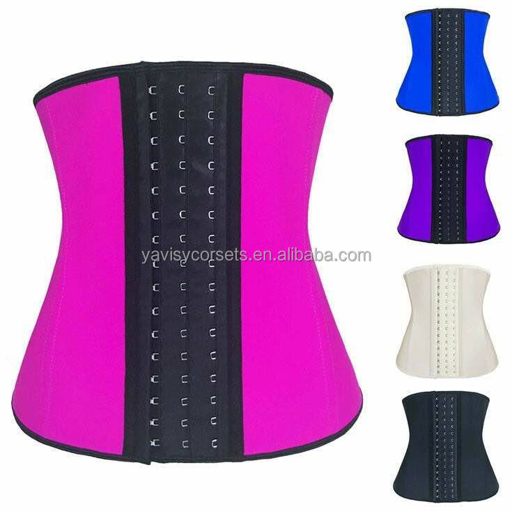 bbfc71f0bf 100% Latex Corset Waist Trainer 9 Steel Bone Durable hooks Waist Cincher  Women Shapewear Hot Body Shaper Corset Slimming Belt