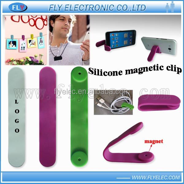 2016 new Silicone magnetic clip