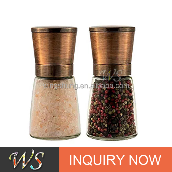WS-SH28S Salt and pepper grinder with 100% copper plating lid