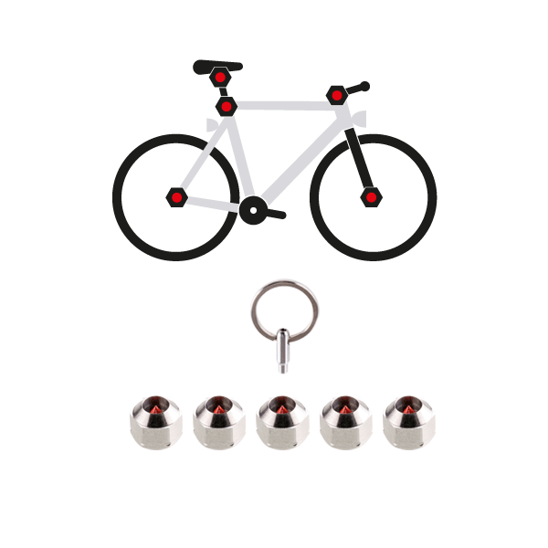 Bicycle wheel axle nuts