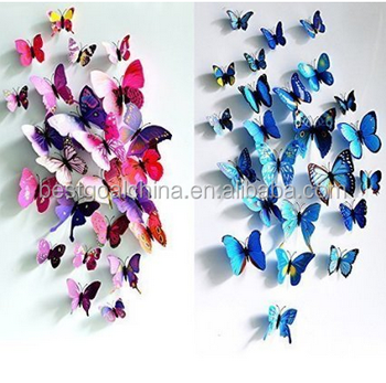 D Butterfly Wall Art Sticker Decorative Wall Decal Buy Wall - Butterfly wall decals 3d