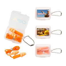 New Technology  bullet shaped silicone soft  reusable earplug in rectangle plastic case with keyring for noise cancelling