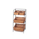 home hotel indoor willow 3 tier iron storage basket display organizer rack