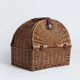 Cheap handwoven food fruit willow wicker hamper basket picnic set for 2