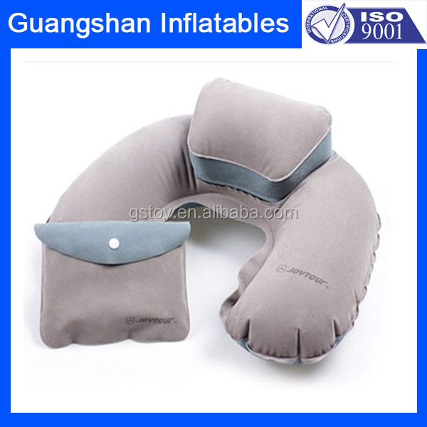 car plane use inflatable travel neck rest pillow