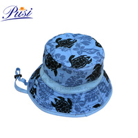Custom baby cotton bucket hat with print logo and adjustable string
