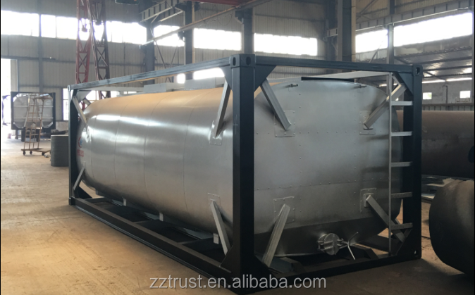 fuel tank gas station with container petrol for transporting for sale