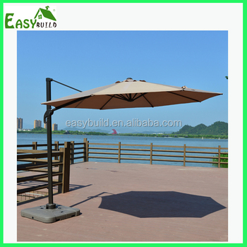 Waterproof Outdoor Side Pole Green Square Mini Roman Garden Umbrella