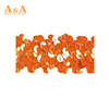 Orange wedding dress decorative trim materials fabric chemical embroidery with beads cord guipure bobbin lace