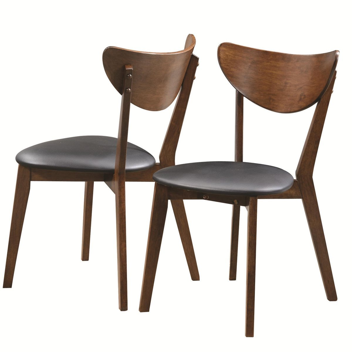 Coaster Malone Mid-century Casual Dining Room Set with Dining Table, 4 x Side Chair and Server