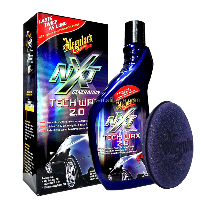 Meguiars car polish G12718AM, Next Generation Meguiars car wax NXT2.0 (liquid), Meguiars 473ML NXT Tech Wax