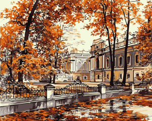 custom craft pictures for 40*50cm autumn street diy oil painting by numbers