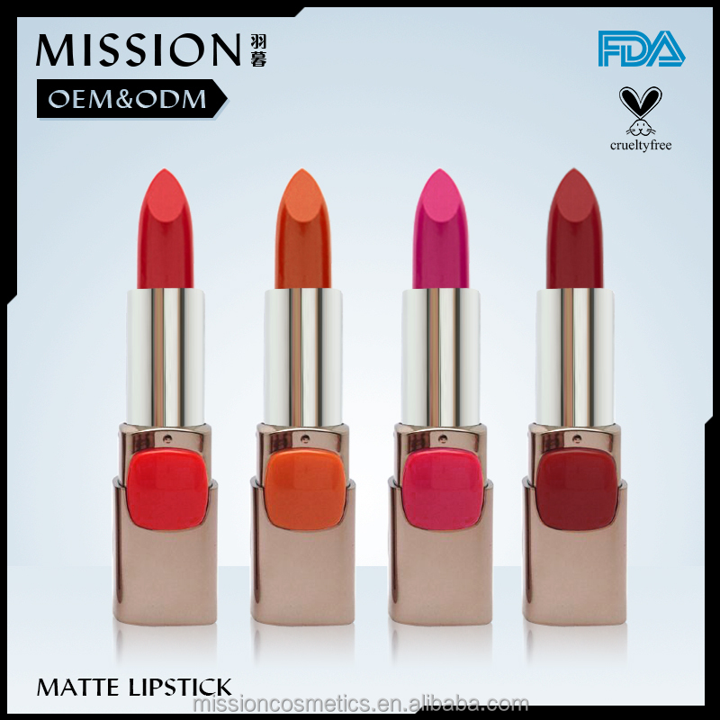 halal cosmetics light Color Lipstick with private label makeup