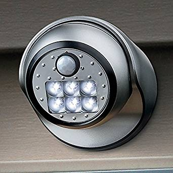 Porch Light with Motion Sensor LED - Titanium
