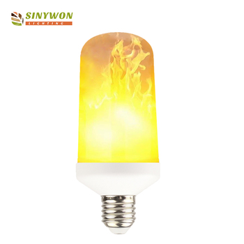High Bright Outdoor 5w E27 Flame Shaped Smd 2835 Led Flickering Bulb 12v Light