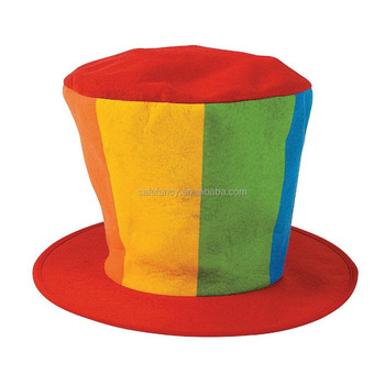 db388cd7431 Sports Fancy Dress Plush Tall Floppy Top Hat Mad Hatter carnival hat  BHAT-2368