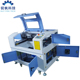 monogram laser engraving machine rf-5070-co2-60w with aluminium knife worktable