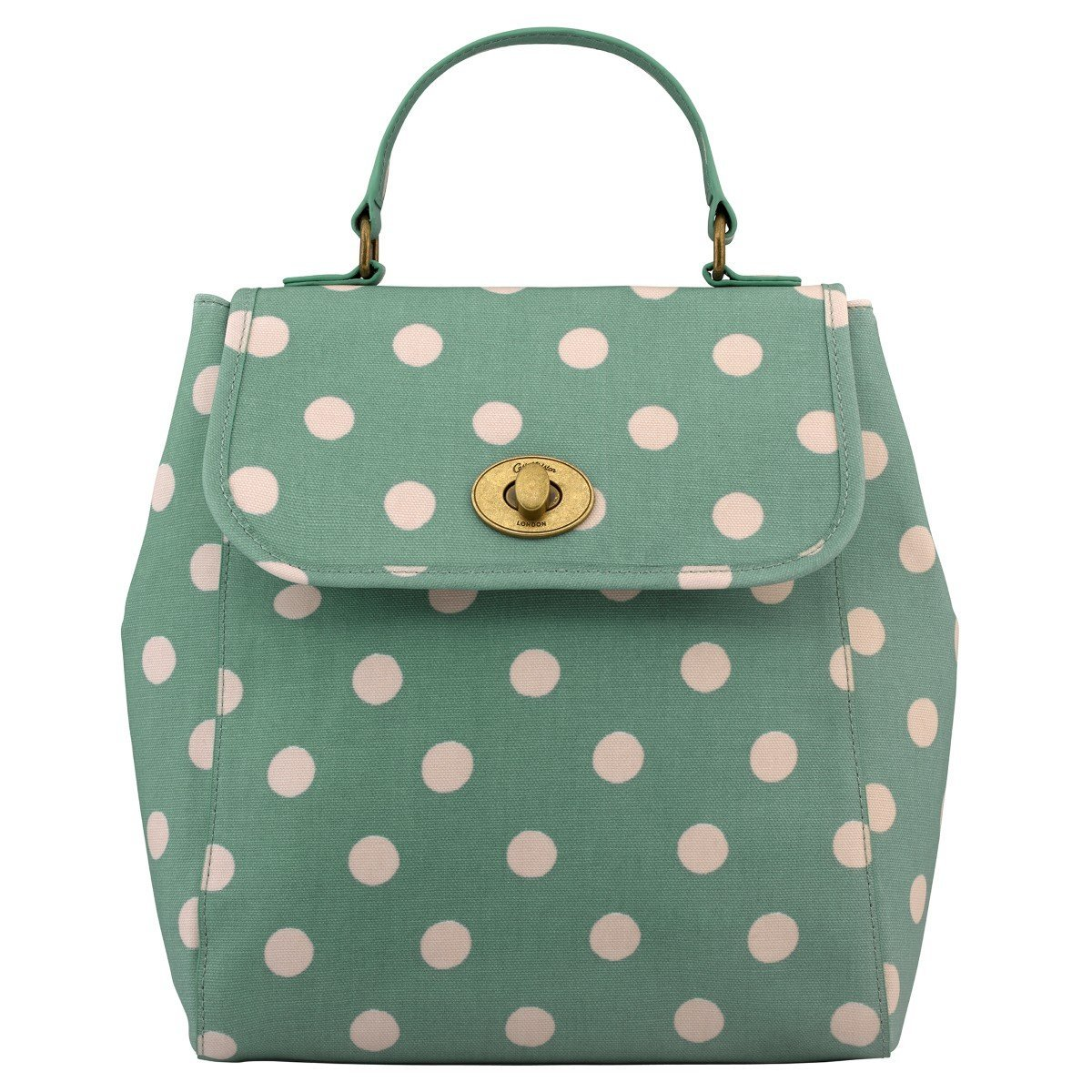 586f4f33894e3 Buy Cath Kidston Matt Oilcloth Turnlock Backpack Rucksack Polka ...