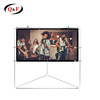 Portable projection screen with pvc matt white projection screen fabric