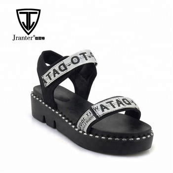 Fashion Ladies Open Toes Slingbacks Summer Sports Sandals Creepers Shoes