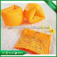 Plastic inflatable swim child double valve arm floating ring