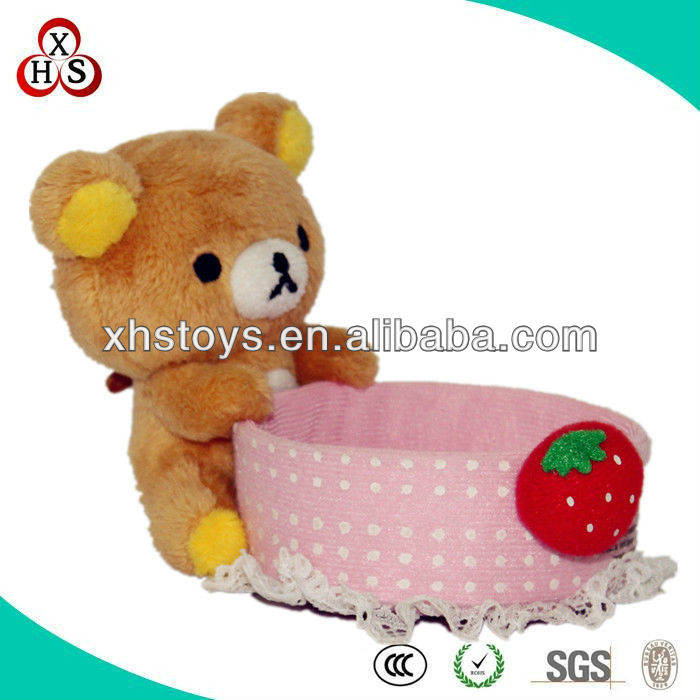 for promotion cute plush toys pen holder