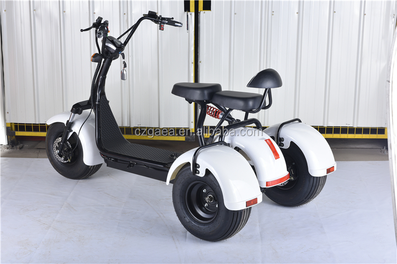 Gaea 3 wheel electric scooter city coco 1000w 1200w with fat tire