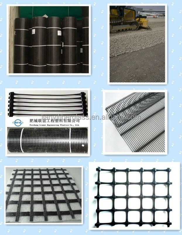 PET, PP, PE and Fiber glass (one and two directional) geogrids manufacturer with CE certificate