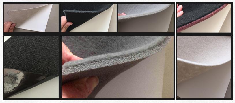 กันน้ำทนทาน breathable ภายในรถตกแต่งเพดาน dot พิมพ์เข็มเจาะไม่ทอผ้า