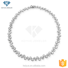 Practical&beautiful Subtle nature 18 gold necklace white gold plated diamond necklace