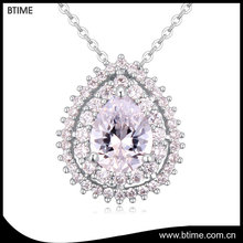 Big stone luxury cubic zircon necklace elegant jewelry drop necklace