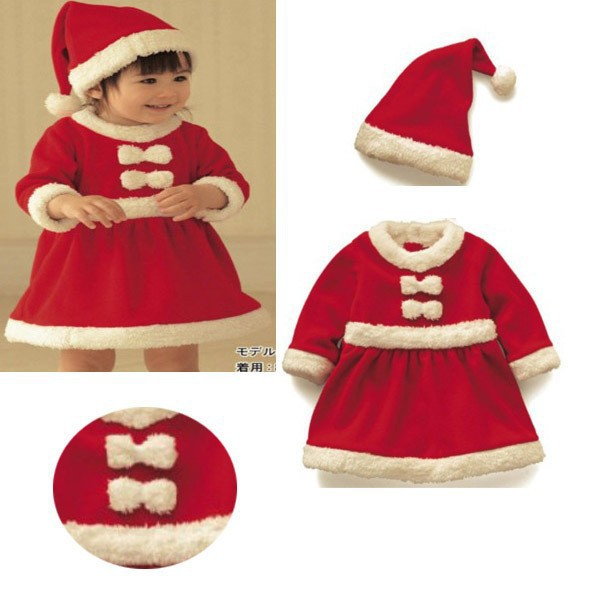 c87ae6be9f20 Buy 2015 Winter Baby Girl Dress Christmas Polyester Dress Santa ...