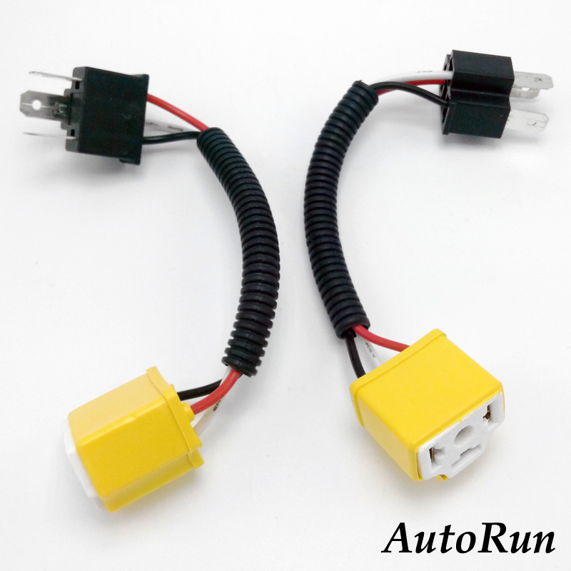 pair harness 9003 hb2 h4 wire socket headlight lamp bulb ... 9003 h4 bulb wiring h4 bulb wiring kit #6