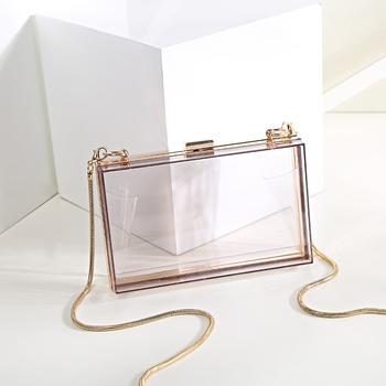 Whole Trendy Women Clear Acrylic Evening Clutch Bag