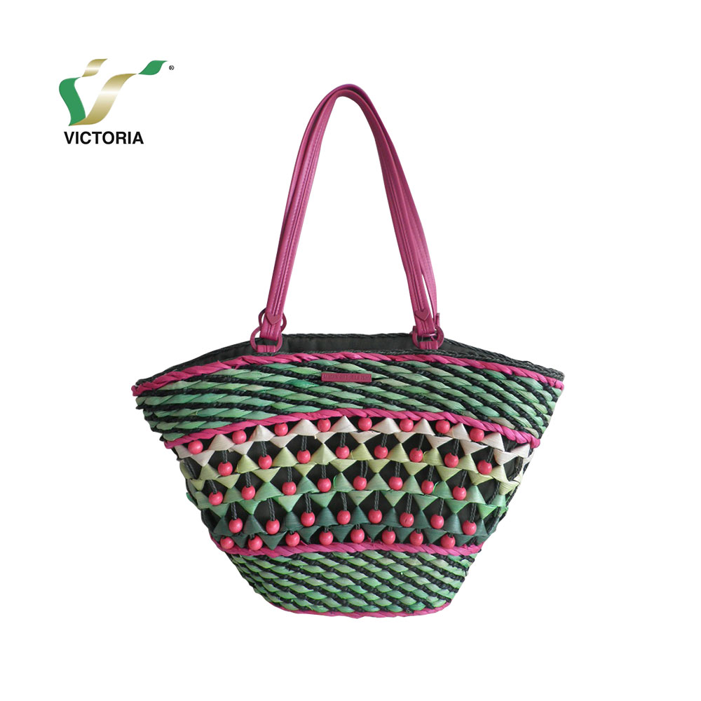 my test latest fashion wholesale women pure cornhusk tote bag