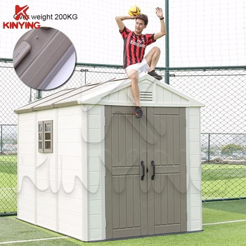 Kinying Brand Outdoor Plastic Temporary House Durable Storage Shed