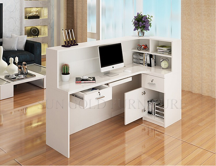 New style office counter design small restaurant reception for Bureau reception