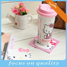 high quality cute pink kitty 2d pvc custom coasters cheap custom 3d cup coasters vinyl embossed cheap beer coasters
