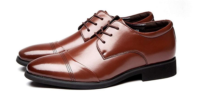 MINIKATA Autumn New Business Dress tip Men's Shoes Large Size Men's Shoes Casual Shoes(Brown-39/6.0 D(M) US Men)