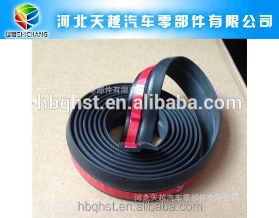 Adhesive rubber lip bumper for car/protective rubber bumper for car