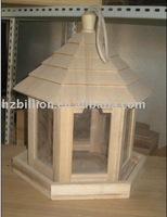wooden bird feeder and bird house